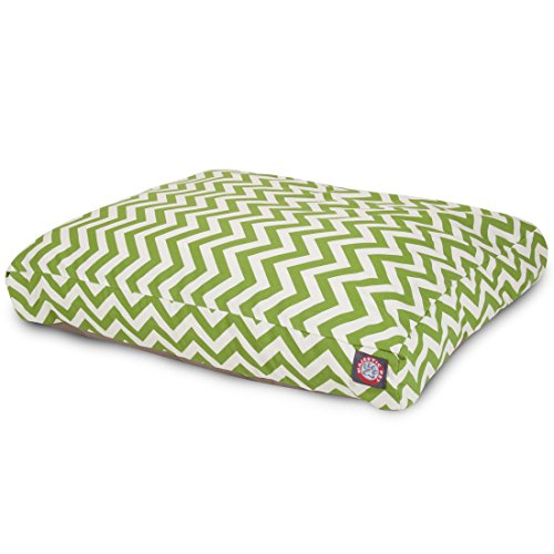 Sage Chevron Medium Rectangle Indoor Outdoor Pet Dog Bed With Removable Washable Cover By Majestic Pet Products