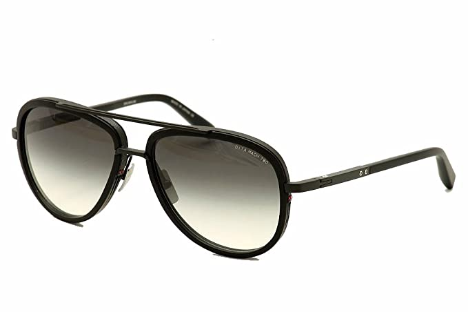 9a91e72575 Image Unavailable. Image not available for. Colour  Dita Mach Two DRX2031  DRX-2031 C-60 Matte Black Aviator Sunglasses 60mm