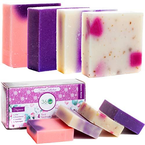 Handmade Soap Lush Gift Set 4 Floral Soap 360Feel