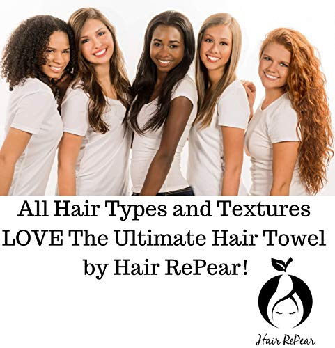 Hair RePear Ultimate Hair Towel for Long Hair – Anti Frizz Premium Cotton Product to Enhance Healthy Natural Hair…
