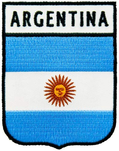 Argentina Flag Shield Patch, South America ()