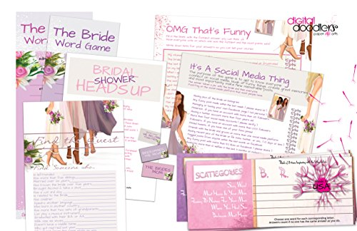 - 6 Games | OMG That's Funny, Bridal Shower Heads Up, It's A Social Media Thing...| 75 Sheets & 29 Game Cards For Heads Up