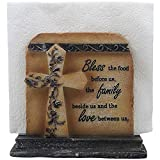 Best Home-n-Gifts Napkin Holders - Decorative Stone Look Holy Cross with Special Blessing Review