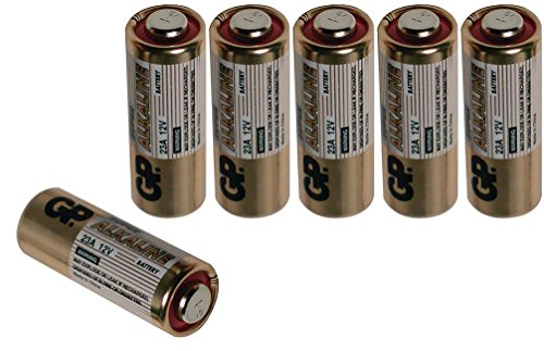 6 GP 12V Alkaline Batteries Size 23AE Package