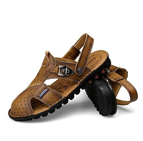 amp;xy Anti Zapatillas Hombres Cuero Playa deslizante 44 Uso W Sandalias Dual dZ7UXd
