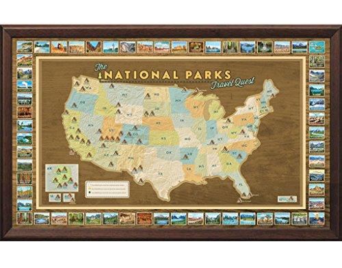 Framed National Parks Travel Map -