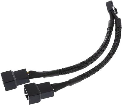 Gazechimp 4 Pin 1 a 2 Ventilador Splitter Cable de Alimentación ...