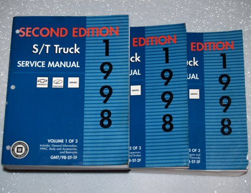 Oldsmobile Bravada Service Shop Manual (1998 GM S/T Truck Factory Service Manuals (Sonoma, Jimmy, Blazer, Envoy, 3 Volume Set))
