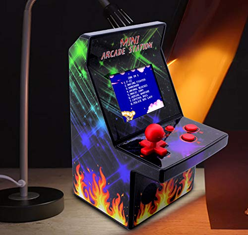 Sunlios Kids Mini Retro Arcade Game Cabinet Machine with 200 Handheld Video Games-2.5'' Display-Joystick Buttons Game Player for Kids Boys Girls Electronic Novelty Toys Birthday Halloween -