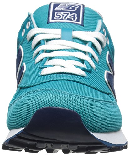 New Baskets Femme turquoise Bleu Polo Pique Balance Pack 574 Basses rqHrw6