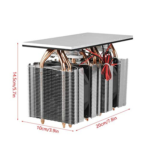 TOOGOO 240W 2x12710 Electronic Semiconductor Refrigeration 12V DIY Refrigerator Cooler Cooling System Kit DIY Refrigerator Cooler