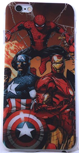 Superhero Classic Designs iPhone 6 Snap-On Cases Featuring Avengers, Superman, Batman, Captain America,Spiderman, or Iron Man (C.A. Civil War)