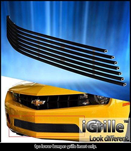 eGrille Fit 2010-2013 Chevy Camaro LT/LS V6 Bumper Black Stainless Billet Grille