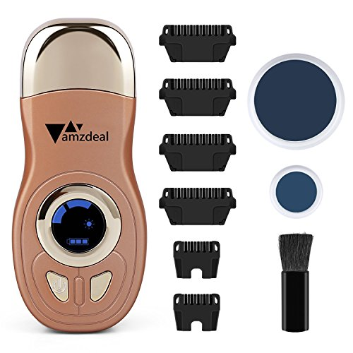 Amzdeal Hair Removal Machine Permanent Hair Removal Ray Thermal Body Arm Leg Facial Rechargeable Electric Epilator Shaver Trimmer Razor for Men and Women