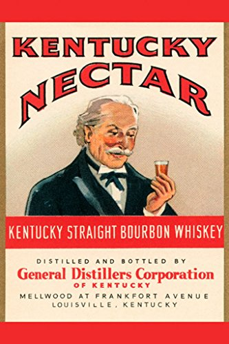 ArtParisienne Kentucky Nectar Straight Bourbon Whiskey 20x30 Poster Semi-Gloss Heavy Stock Paper ()