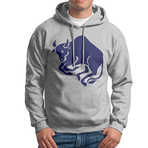 Arsmt Men's Hooded Sweatshirt Blue Taurus Funny Pullover Hoodie