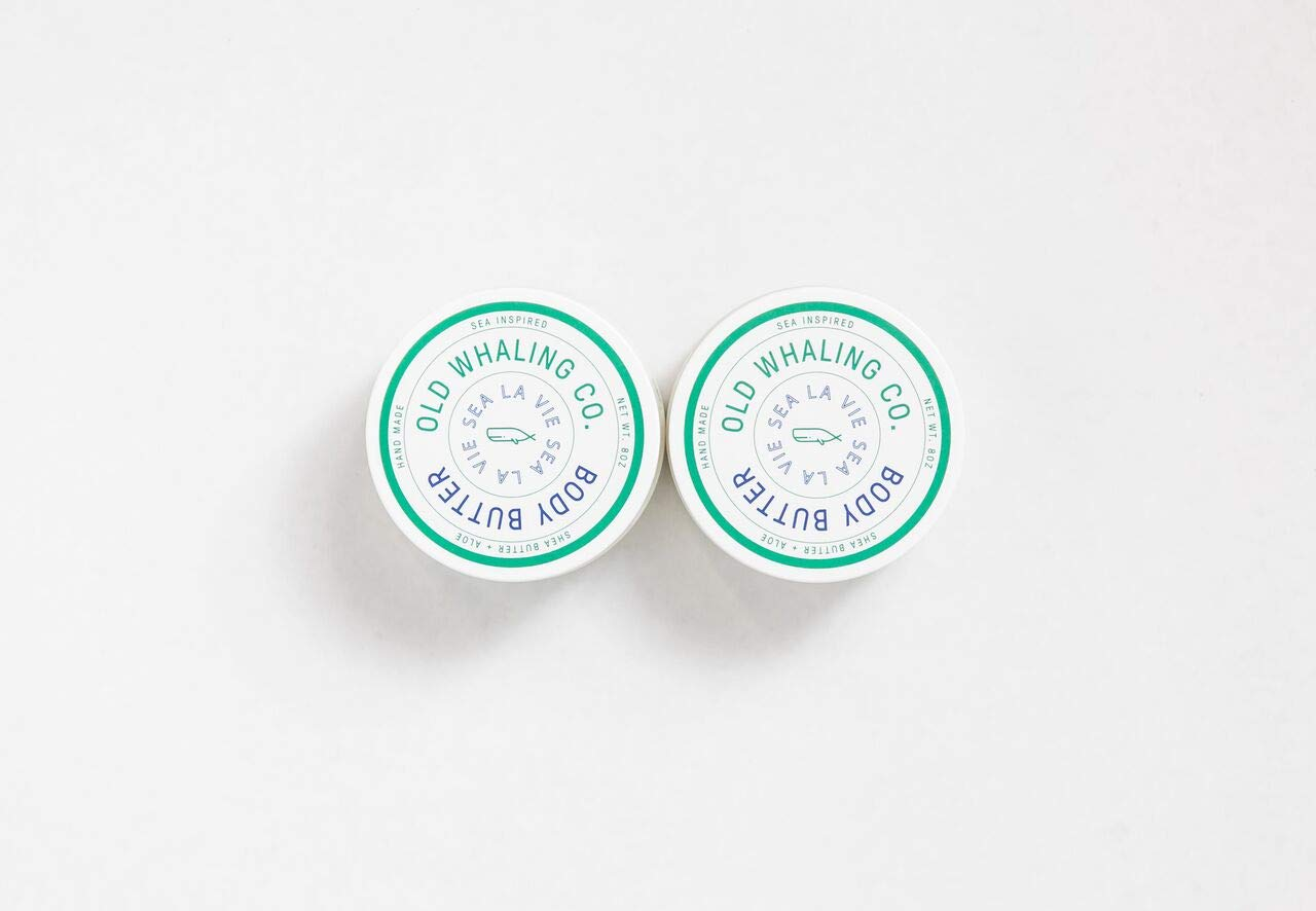 TWO Sea La Vie Body Butters || handmade lotion/shea butter/aloe vera/paraben and mineral oil free/moisturizing / soft citrus floral