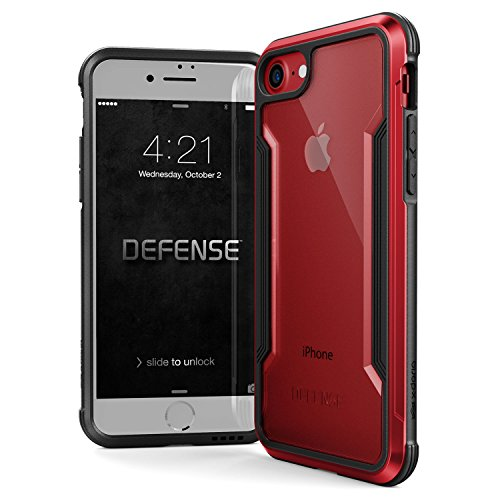 (iPhone 8 & iPhone 7 Case, X-Doria Defense Shield Series - Military Grade Drop Tested, Anodized Aluminum, TPU, and Polycarbonate Protective Case for Apple iPhone 8 & 7)
