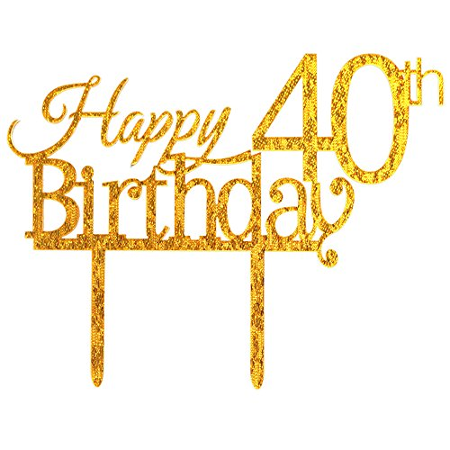 Glitter-Gold-Acrylic-Happy-40th-Birthday-Cake-Topper-40-Birthday-Party-Cupcake-Topper-Decoration-40-gold