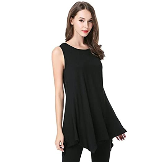 Amazon.com: Tank Tops for Womens, FORUU Fashion Loose Long Solid Swing Irregular Camis Vest: Clothing