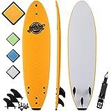 7' Beginner Foam Surfboard - Premium Soft Top Surfboards - The 7' Ruccus