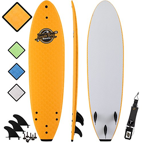 - Soft Top Surfboard - Best Foam Surf Board for Beginners, Kids, and Adults - Soft Top Surfboards for Fun & Easy Surfing - 7' Ruccus, 8' Verve & 8'8 Heritage Surfboards All Wax-Free
