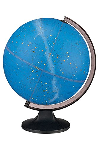Replogle Constellation Illuminated Globe, Dual map, Detailed Sky map, Turn The Light ON to See All of The Constellations That Represent 12 Different Zodiac Signs(12