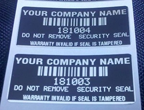 Security Labels Stickers Signs Seals Warranty Void 100pcs Custom Printed - Sale For Custom Oakleys