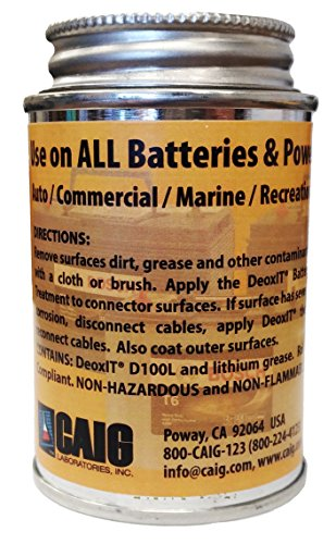 Caig DeoxIT Battery Cleaner & Protectant with Brush Lid, 118 g (CL-BCP-04) by CAIG Laboratories (Image #2)