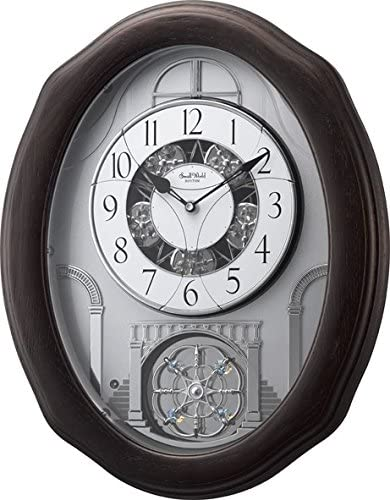"""Rhythm Clocks """"Glory Espresso"""" Magic Motion Clock"""