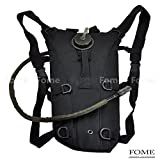 Hydration Water Backpack, FOME SPORTS|OUTDOORS Portable Tactical 3L Hydration Pack Backpacks Water Sucksack Bladder Water Bag Pouch Hiking Climbing Survival One Year Warranty