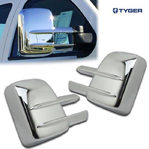 (Tyger ABS Triple Chrome Plated A Pair Mirror Covers Fits 07-13 Chevy Silverado 2500/3500 HD/GMC Sierra 2500/3500/HD Tow Mirror)