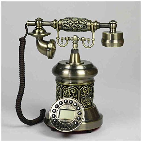 SMC Carved European Phone Landline Home Fixed Retro Phone Creative Old Antique Button (Color : B) from SMC Telephone