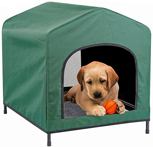 Pet House - Kleeger Premium Canopy Pet House Retreat – Waterproof Indoor & Outdoor Shelter - Suitable For Cats & Small Dogs - Lightweight, Portable & Comfortable - Breathable Mesh Floor