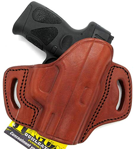 HOLSTERMART USA TAGUA BH3 Right Hand Brown Leather Open Top OWB Belt Holster for Taurus Millennium G2 G2C G2S