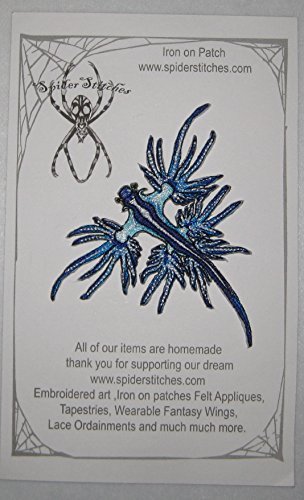 Blue Dragon Sea Slug Nudibranch Glaucus Atlanticus Iron On Patch