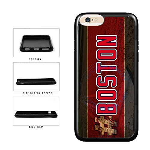 (BleuReign(TM) Hashtag Boston #Boston Baseball Team TPU RUBBER SILICONE Phone Case Back Cover For Apple iPhone 8 and iPhone 7)
