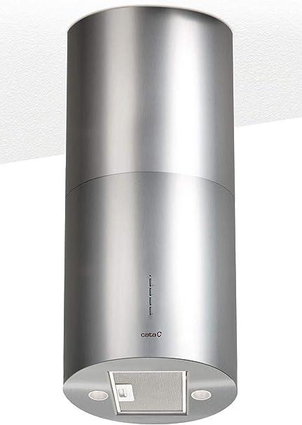 CATA Modelo ISLA MOON extracción   campana extractora cocina 645m3/h-300m3/h   Acabado en acero inoxidable   [Clase de eficiencia energética C], 3 Velocidades: Amazon.es: Grandes electrodomésticos
