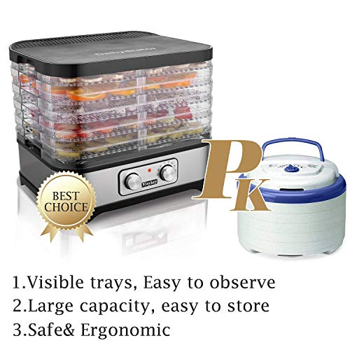 Food Dehydrator Machine Jerky with 7 Trays, Knob Button/250Watt by Hopekings (Image #2)