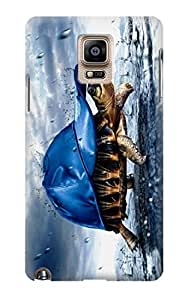 S0084 Turtle in the Rain Case Cover For Samsung Galaxy Note 4 Kimberly Kurzendoerfer