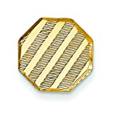 14K Yellow Gold Tie Tac Polished Mens Jewelry New  F