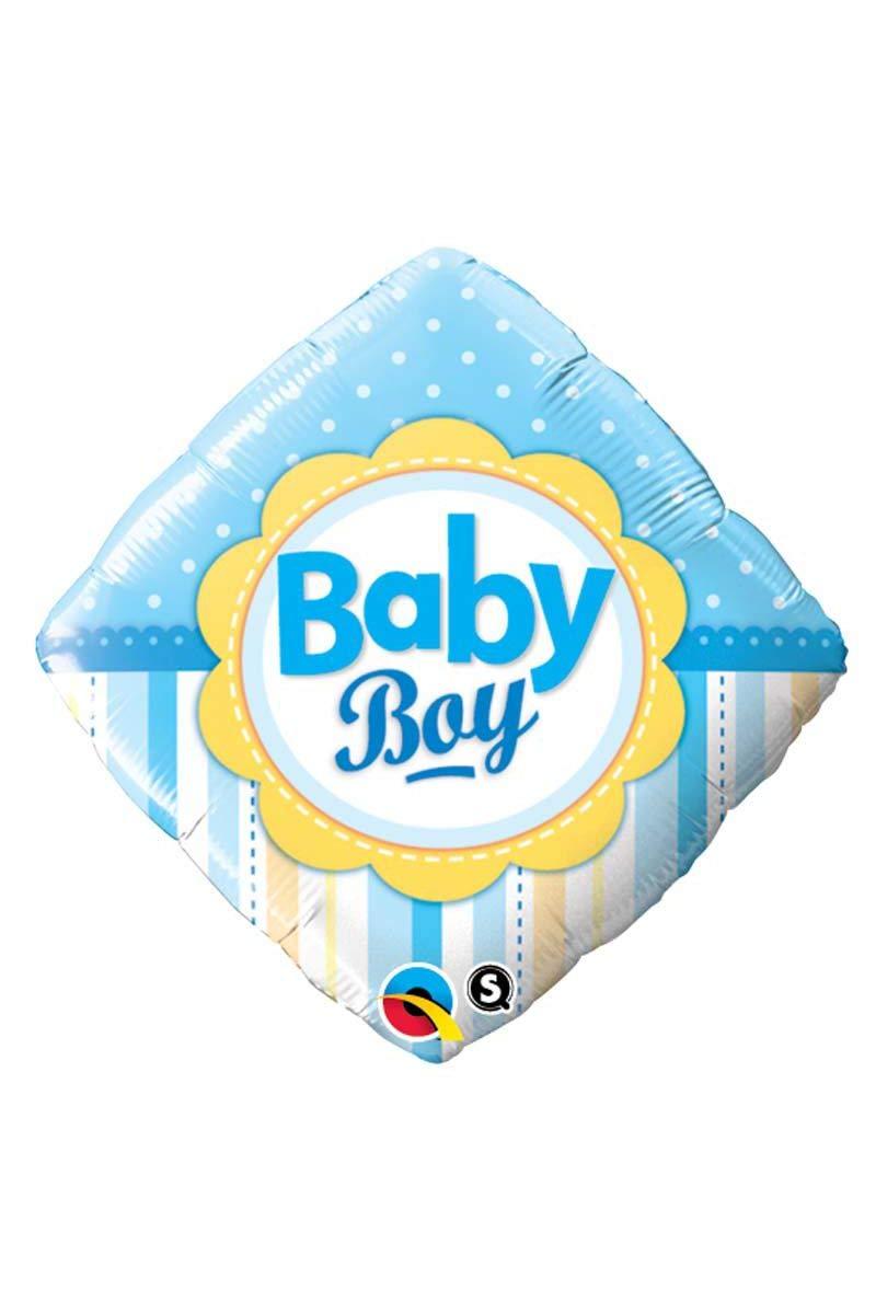 Pioneer Balloon Company 14637.0 18 Baby Boy Dots Stripes Balloon Multicolor