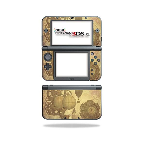 MightySkins Skin Compatible with Nintendo 3DS XL (2015) - Steam Punk Paper | Protective, Durable, and Unique Vinyl Decal wrap Cover | Easy to Apply, Remove, and Change Styles | Made in The USA 3