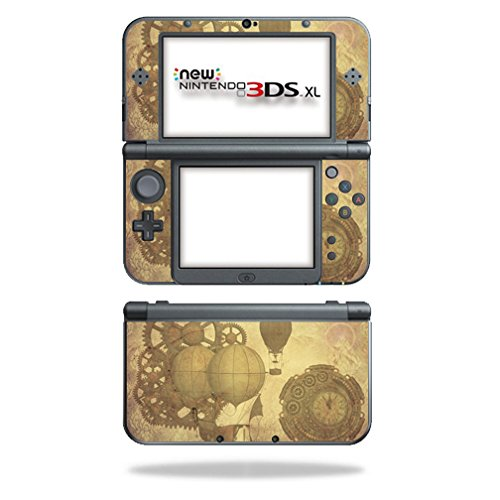 MightySkins Skin for Nintendo 3DS XL (2015) – Steam Punk Paper | Protective, Durable, and Unique Vinyl Decal wrap Cover | Easy to Apply, Remove, and Change Styles | Made in The USA