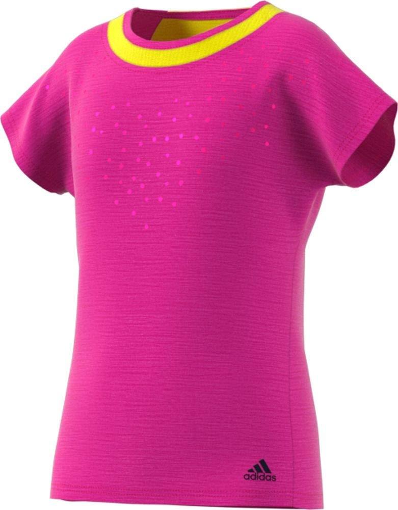 adidas Tennis Dotty Tee, Shock Pink, Medium