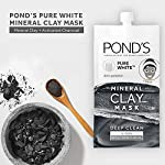 POND'S Pure White AntiPollution activated Charcoal Mineral Clay Mask 8g*6 -Pack of 6