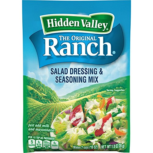 Hidden Valley Original Ranch Salad Dressing & Seasoning Mix, Gluten Free - 1 Packet (Dinner Fish)