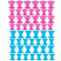 TANG SONG 40PCS Hair Curlers Rollers Hair Care Roller Silicone No Clip Hair Style Rollers Soft Magic DIY Curling Hairstyle Tools Hair Accessories ?Pink & Blue)