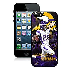 NFL&Minnesota Vikings Adrian Peterson iPhone 5 5S Case Gift Holiday Christmas Gifts cell phone cases clear phone cases protectivefashion cell phone cases HLNB605584182