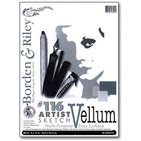 Borden & Riley - #116 Artist Sketch Vellum Pad - 9